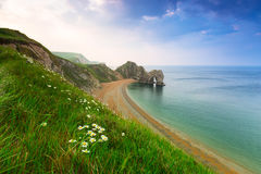 Durdle Door on the Jurassic Coast of Dorset Stock Photography