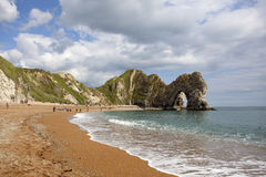 Durdle door, Jurassic Coast, Dorset, UK. Limestone erosion on the Jurassic Coast, a UNESCO World Heritage site, captured in beautiful sunny day in UK Stock Photos