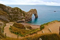 Durdle Door, Jurassic Coast. On the top of the Durdle Door Royalty Free Stock Images