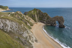 Durdle Door - Jurassic Coast - United Kingdom. Durdle Door - a natural limestone arch on the Jurassic Coast near Lulworth in Dorset in the United Kingdom Royalty Free Stock Photography