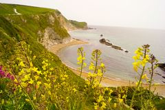 Durdle Door Ludwell view stock photography