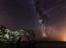 Durdle Door Milky way Stock Images