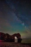 Durdle Door and the Milky way Royalty Free Stock Photos