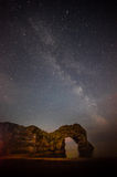 Durdle Door and the Milky way Royalty Free Stock Photos