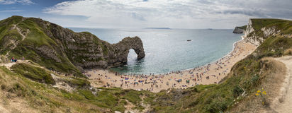 Durdle Door Pano Stock Image