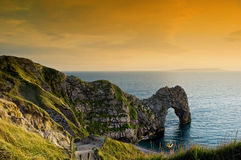 Durdle Door Sunset Stock Photography