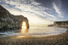 Durdle Door Sunset Stock Images