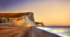 Durdle Door Travel Destination Beach Cliff Concept Royalty Free Stock Photography