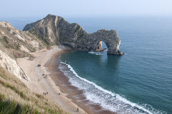 Durdle's Door Cove at Sunset Royalty Free Stock Photography