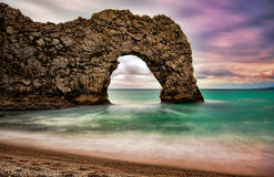 Durdle Tür, Dorset stockbilder