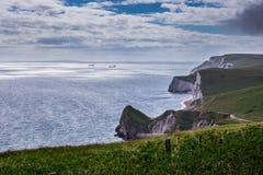 Durdle-Tür, Jura- Küste West- Lulworth, Dorset, Süd-England lizenzfreie stockfotos