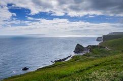 Durdle-Tür, Jura- Küste West- Lulworth, Dorset, Süd-England stockfotos