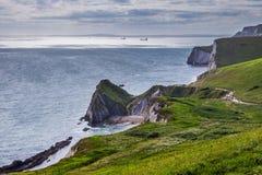 Durdle-Tür, Jura- Küste West- Lulworth, Dorset, Süd-England lizenzfreies stockfoto