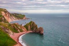 Durdle-Tür, Jura- Küste West- Lulworth, Dorset, Süd-England lizenzfreie stockfotografie