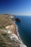 Durdle Tür-Südküstepfad in Dorset Lizenzfreie Stockfotos