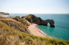 Durdle Tür Südwestküstenweg, Dorset, Großbritannien Lizenzfreies Stockbild