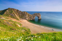 Durdle-Tür auf der Juraküste von Dorset, Großbritannien Stockfoto
