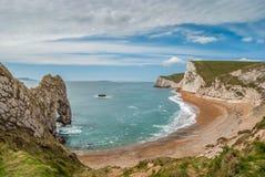 Durdledeur op de Jurakust van Dorset, het UK stock foto's