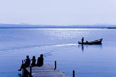 Durée dans le lac Photographie stock