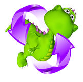 Durée de chéri de cercle de chéri de dragon de Dino Image stock