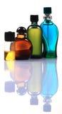 Dure parfumflessen stock foto's