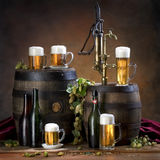 Durée toujours avec de la bière Photo libre de droits