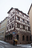 Durer House in winter time. Nuremberg. Germany. Royalty Free Stock Images