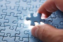 Durez la partie de puzzle Images libres de droits