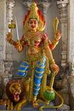 durga女神印度狮子 免版税库存照片