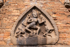Durga bogini na przodzie przy Po N'gar Cham sanktuarium. Zdjęcie Royalty Free