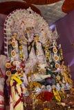 Durga de la diosa en puja del durga Imagenes de archivo