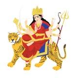 Durga della dea sulla tigre Fotografia Stock Libera da Diritti