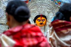 Durga Devi idol royalty free stock photo