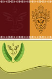 Durga Diwali Greeting. Durga Diwali Festival Greeting Card Design stock illustration