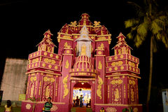 Durga Festival. Out side view of a marquee. Durga Puja Festival is the biggest festival among Bengalis.Durga puja is held with the maximum pomp and vigor Stock Photo