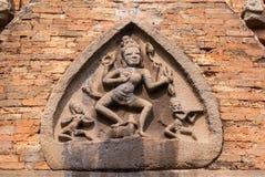 Durga-Göttin auf Front am Cham-Schongebiet PO N'gar. Lizenzfreies Stockfoto