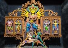 Durga-Göttinidol in der indischen kreativen Kunstform Stockfoto