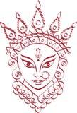 Durga Goddess van Macht Royalty-vrije Stock Fotografie