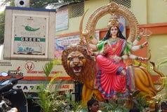 Durga hindú de la diosa Imágenes de archivo libres de regalías