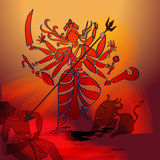 Durga Hindu goddess. Stock Photo