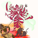 Durga Hindu goddess. Royalty Free Stock Photo