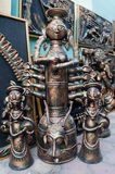 Durga Idol, Art work,  Indian handicrafts fair at Kolkata Stock Photography