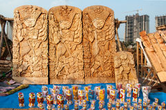 Durga Idol, Art work,  Indian handicrafts fair at Kolkata Stock Images