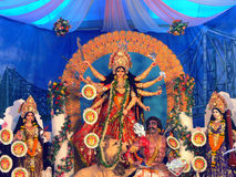 Durga Idol as worshipped by Bengali community in India Royalty Free Stock Photography