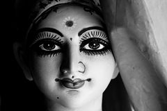 Durga idol at Kumortuli (Kolkata) Royalty Free Stock Images