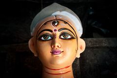 Durga Idol at Kumortuli (Kolkata) Stock Image