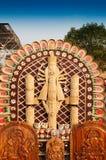 Durga Idol, trabajo de arte, artesanías indias justas en Kolkata Imágenes de archivo libres de regalías