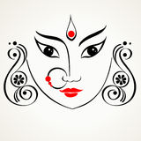 Durga illustration Stock Image