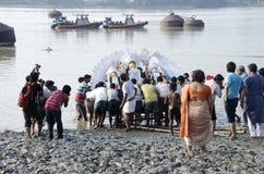 Durga Immersion Royalty-vrije Stock Foto