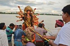 Durga Immersion Royalty Free Stock Photo